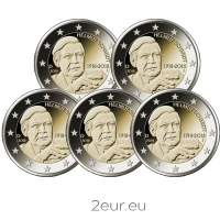 GERMANY 2 EURO 2018 - 100TH ANNIVERSARY OF THE BIRTH OF GERMAN FEDERAL CHANCELLOR HELMUT SCHMIDT  (FULL SET)