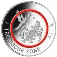GERMANY 5 EURO 2017 - TROPISHE ZONE - D