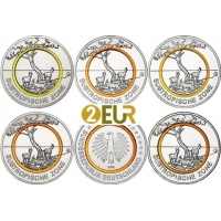 GERMANY 5 EURO 2018 - CLIMATE ZONES OF THE EARTH - SUBTROPICAL CLIMATE ZONE - ADFGJ
