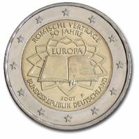 GERMANY 2 EURO 2007 - TREATY OF ROME - F - STUTTGART