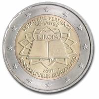 GERMANY 2 EURO 2007 - TREATY OF ROME - J - HAMBURG