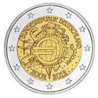 GERMANY 2 EURO 2012 - 10 YEARS OF EURO - A - BERLIN
