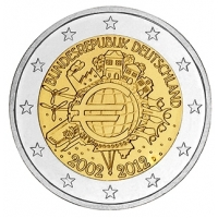 GERMANY 2 EURO 2012 - 10 YEARS OF EURO - D - MUNICH