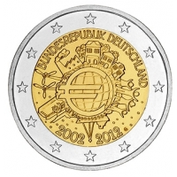 GERMANY 2 EURO 2012 - 10 YEARS OF EURO - G - KARLSRUHE
