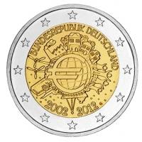 GERMANY 2 EURO 2012 - 10 YEARS OF EURO - G - KARLSRUHE