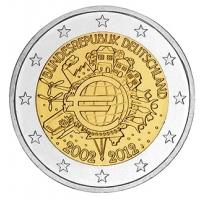GERMANY 2 EURO 2012 - 10 YEARS OF EURO - J - HAMBURG