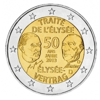 GERMANY 2 EURO 2013 - 50 YEARS OF THE ELYSEE TREATY - D - MUNICH