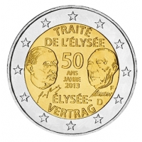 GERMANY 2 EURO 2013 - 50 YEARS OF THE ELYSEE TREATY - F - STUTTGART