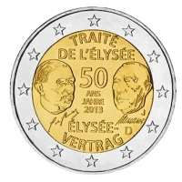 GERMANY 2 EURO 2013 - 50 YEARS OF THE ELYSEE TREATY  - J - HAMBURG