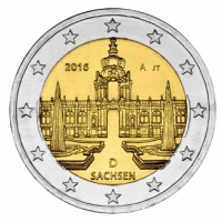 GERMANY 2 EURO 2016 - DRESDNER ZWINGER - A - BERLIN