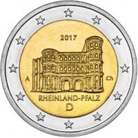 GERMANY 2 EURO 2017 - RHEINLAND-PFALZ: PORTA NIGRA - A - BERLIN