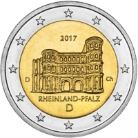 GERMANY 2 EURO 2017 - RHEINLAND-PFALZ: PORTA NIGRA - D - MUNICH