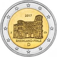 GERMANY 2 EURO 2017 - RHEINLAND-PFALZ: PORTA NIGRA  - F - STUTTGART