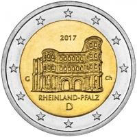 GERMANY 2 EURO 2017 - RHEINLAND-PFALZ: PORTA NIGRA - G - KARLSRUHE
