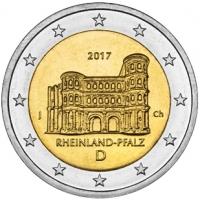 GERMANY 2 EURO 2017 - RHEINLAND-PFALZ: PORTA NIGRA - J - HAMBURG