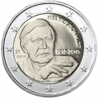 GERMANY 2 EURO 2018 - 100TH ANNIVERSARY OF THE BIRTH OF GERMAN FEDERAL CHANCELLOR HELMUT SCHMIDT - A - BERLIN