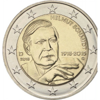 GERMANY 2 EURO 2018 - 100TH ANNIVERSARY OF THE BIRTH OF GERMAN FEDERAL CHANCELLOR HELMUT SCHMIDT - G - KARLSRUHE