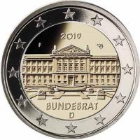 GERMANY 2 EURO 2019 - BUNDESRAT - F - STUTTGART