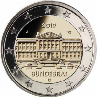 GERMANY 2 EURO 2019 - BUNDESRAT - J - HAMBURG