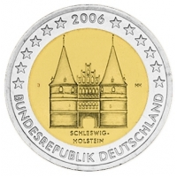 GERMANY 2 EURO 2006 - HOLSTEIN - J - HAMBURG