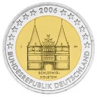 GERMANY 2 EURO 2006 - HOLSTEIN - J - HAMBURG
