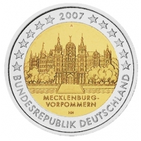 GERMANY 2 EURO 2007 - SCHWERIN CASTLE - A - BERLIN