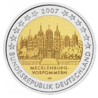 GERMANY 2 EURO 2007 - SCHWERIN CASTLE - F - STUTTGART