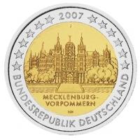 GERMANY 2 EURO 2007 - SCHWERIN CASTLE - J - HAMBURG