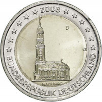 GERMANY 2 EURO 2008 - HAMBURG