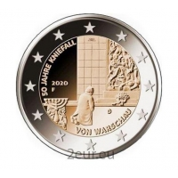 GERMANY 2 EURO 2020 - 50TH ANNIVERSARY OF KNEELING IN WARSAW