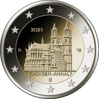 GERMANY 2 EURO 2021 - Saxony-Anhalt - A