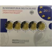 GERMANY 2 EURO 2012 - 10 YEARS OF EURO - PROOF