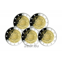 GERMANY 2 EURO 2012 - 10 YEARS OF EURO (FULL SET)