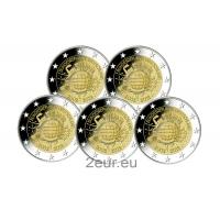GERMANY 2 EURO 2012 - 10 YEARS OF EURO (FULL SET)