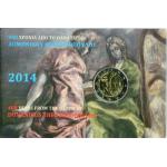 GREECE 2 EURO COIN CARD