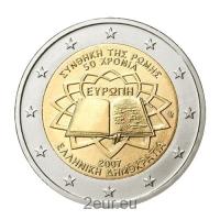 GREECE 2 EURO 2007 - TREATY OF ROME