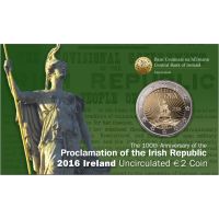 IRELAND 2 EURO 2016 - 100 YEARS SINCE THE EASTER RISING -C/C