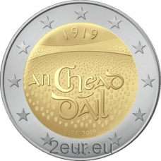 IRELAND 2 EURO 2019 - 100TH ANNIVERSARY OF THE FIRST  ASSEMBLY OF DAILI EIREANN