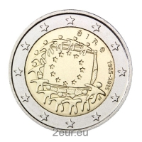 IRELAND 2 EURO 2015 - 30 YEARS OF THE EU FLAG