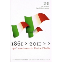ITALY 2 EURO 2011 - THE 150 YEARS OF THE UNIFICATION OF ITALY C/C