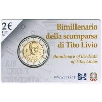 ITALY 2 EURO 2017 - TITO LIVIO -COIN CARD