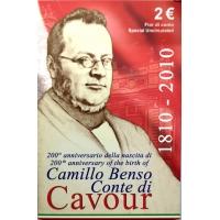 ITALY 2 EURO 2010 - CAMILLO BENSO - CONTE DI CAVOUR - C/C