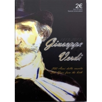 ITALY 2 EURO 2013 - 200TH BIRTHDAY OF GIUSEPPE VERDI C/C