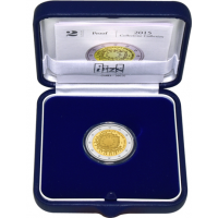 ITALY 2 EURO 2015 - 30 YEARS OF THE EU FLAG PROOF