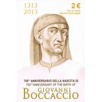 ITALY 2 EURO 2013 - 700TH BIRTHDAY OF GIOVANNI BOCCACCIO - C/C