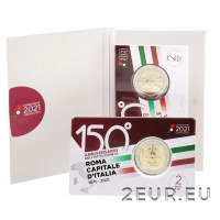 ITALY 2 EURO 2021 - 150 YEARS SINCE THE PROCLAMATION OF ROME AS THE CAPITAL OF ITALY c/c
