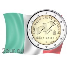ITALY 2 EURO 2011 - THE 150 YEARS OF THE UNIFICATION OF ITALY