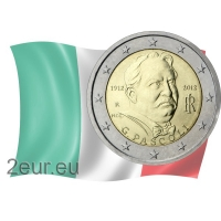 ITALY 2 EURO 2012 - 100 YEARS OF THE DEATH OF GIOVANNI PASCOLI
