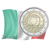 ITALY 2 EURO 2015 - 30 YEARS OF THE EU FLAG