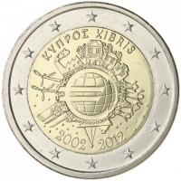 CYPRUS 2 EURO 2012 - 10 YEARS OF EURO